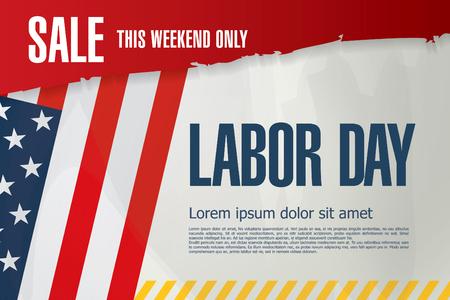 discount banner: Labor day. Sale Illustration