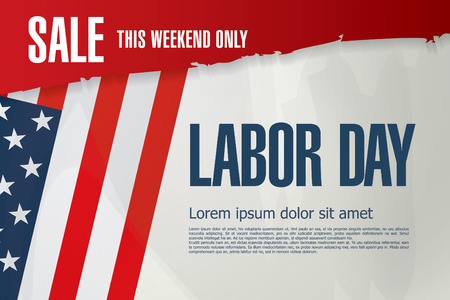 first day: Labor day. Sale Illustration