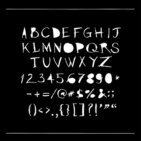 docket: Vector hand drawn alphabet font