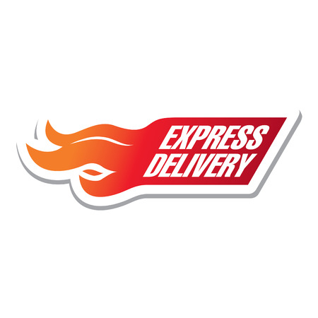 express: express delivery sticker Illustration