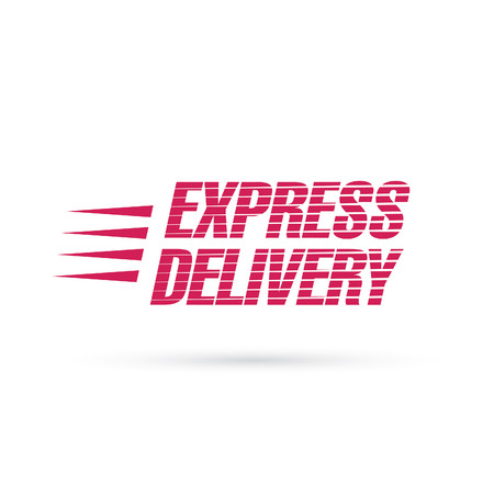 express: express delivery lettering