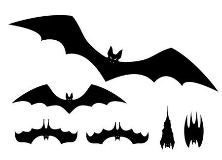 flying bats: Flying bats. Vector illustration set