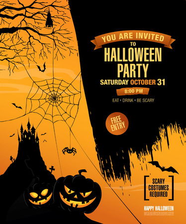Halloween party. Poster