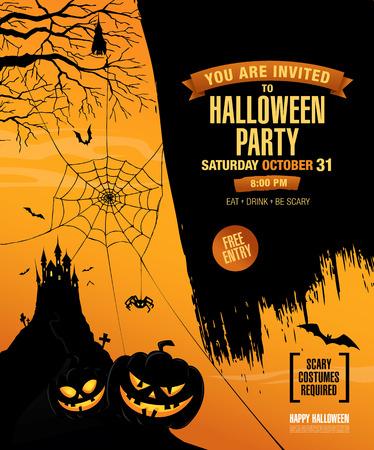 Halloween feest. Poster