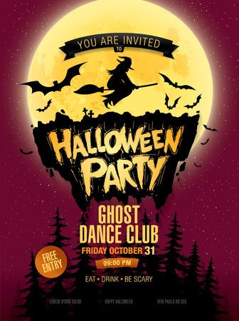 halloween party: Halloween party. Vector illustration