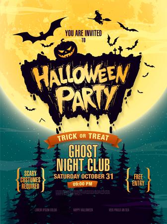 Halloween party. Vector illustration