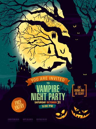 Halloween party. Vector illustration 免版税图像 - 57875986