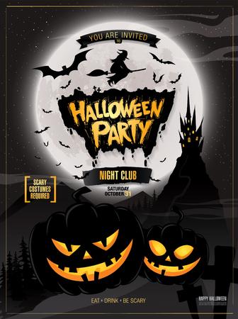 Fiesta de Halloween. ilustración vectorial