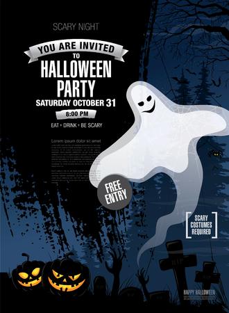 halloween party: Halloween party. Vector poster