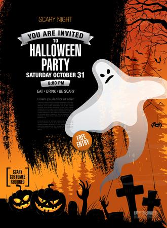 Halloween party. Vector poster