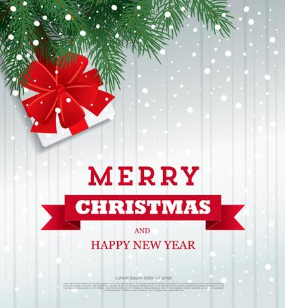 메리 크리스마스. 크리스마스 인사말 카드