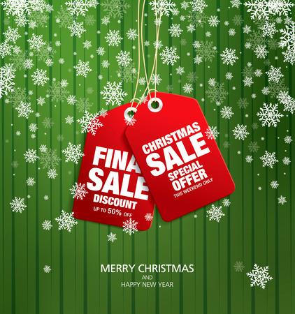 Christmas sale. Vector tags