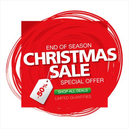 Christmas sale. Vector banner