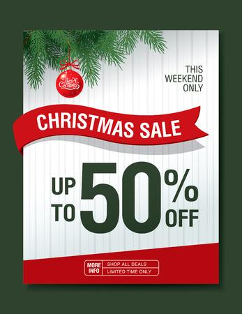Vendita di Natale. Vector banner Archivio Fotografico - 57933172