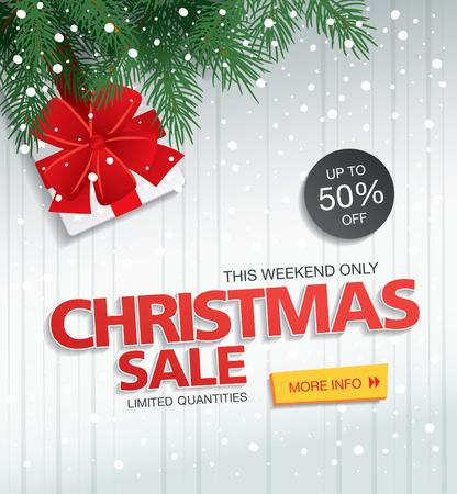 Christmas sale. Vector banner Векторная Иллюстрация