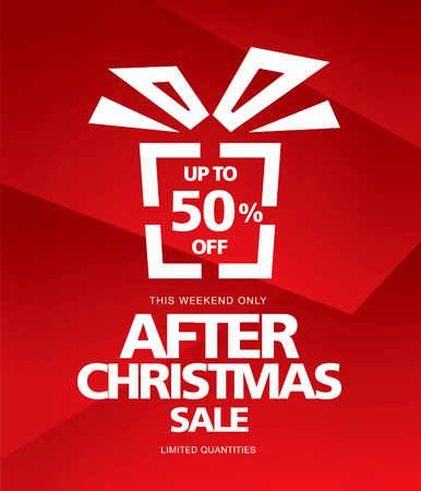 boxing day special: After Christmas sale. Vector poster