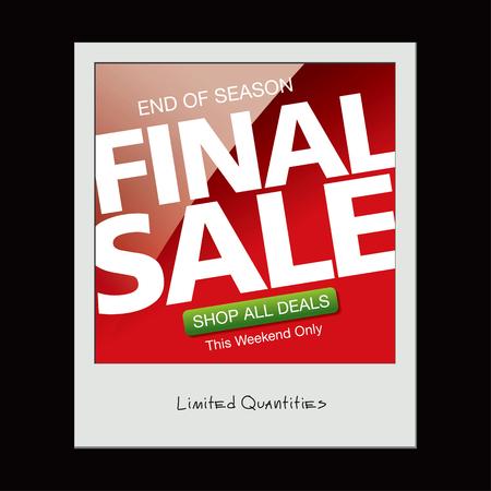 Final sale. Snapshot
