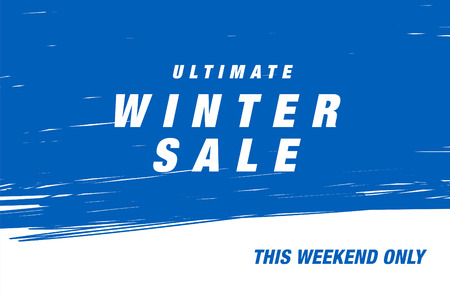 ultimate: Ultimate winter sale. Vector banner