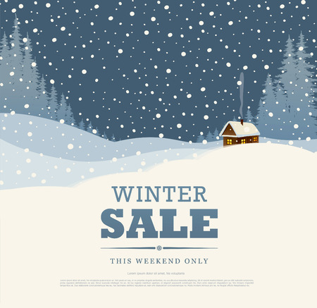 house clearance: Winter sale. Vector illustration