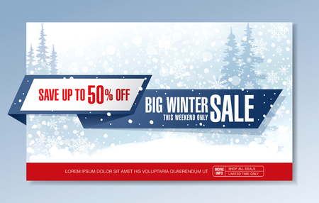 vector illustration: Big Winter sale. Vector illustration Illustration
