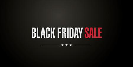Black friday banner. Sale Illustration