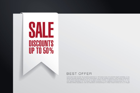tally: Sale discount. Tag. Banner. Label. Sticker.