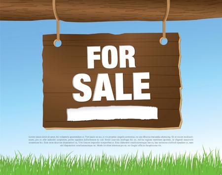 yard sale: for sale banner Illustration