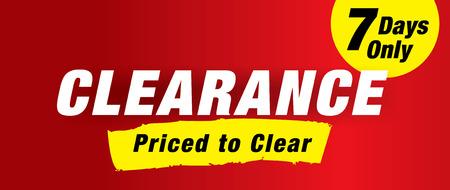 tally: clearance sale