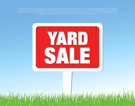 yards: yard sale board