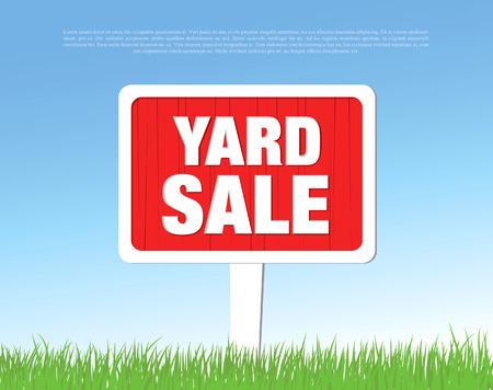 yard sale: yard sale board