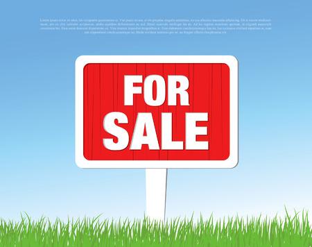 yard sale: for sale board