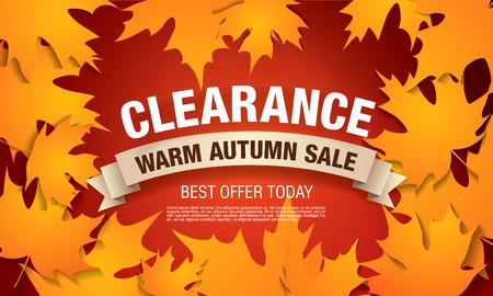 Autumn sale banner Illustration