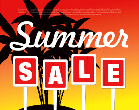 Summer sale banner Banque d'images - 58141329