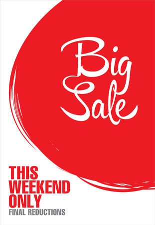 clearance: Big sale poster