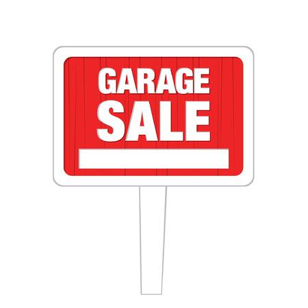 tally: garage sale board Illustration