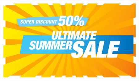 ultimate: Ultimate summer sale banner Illustration