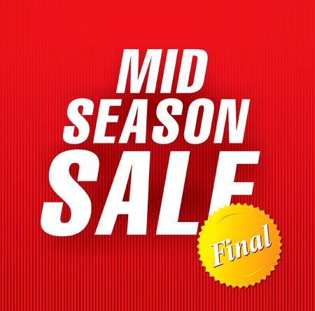 season: mid season sale Illustration