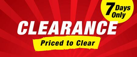 クリアランス セール。価格をクリアするには  イラスト・ベクター素材
