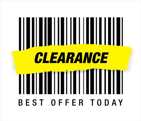 clearance: sale clearance Illustration