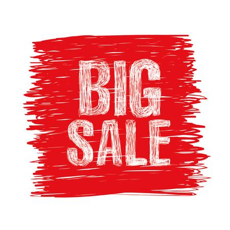 big sale: Big sale brush stroke background