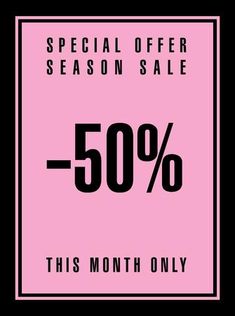 discount banner: Sale discount. Banner Illustration
