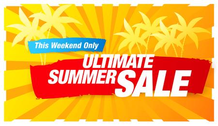 summer holiday: Ultimate summer sale banner Illustration