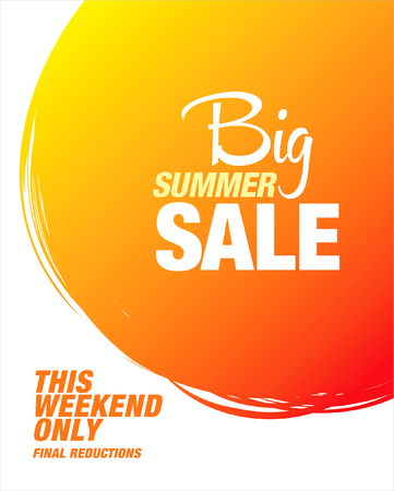 summer sale: big summer sale banner Illustration