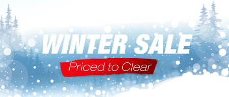 sale banner: Winter sale poster