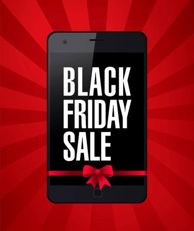 mega phone: Black friday banner. Sale Illustration