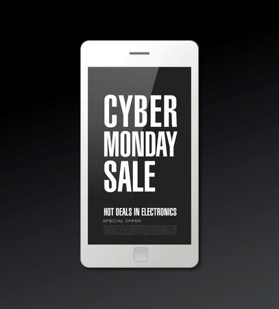 mega phone: Cyber ??monday sale. Banner