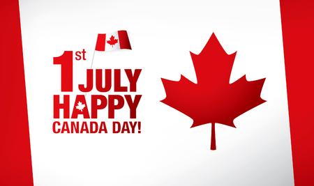 7 月の最初の。幸せなカナダ日!