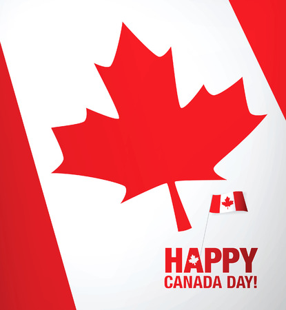 canadian flag: First of July. Happy Canada day!