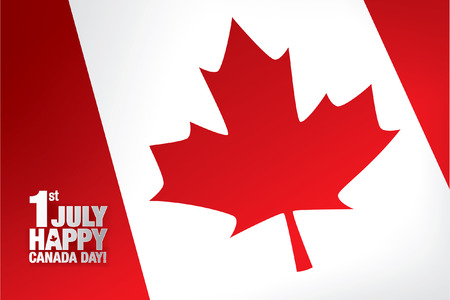 canadian state flag: First of July. Happy Canada day!
