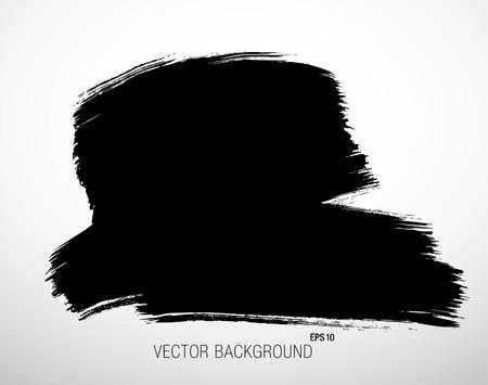 daub: Black grunge background. Vector Illustration Illustration